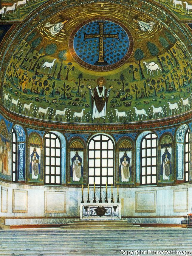 Ravenna: Basilica of Sant'Apollinare in Classe--Apse.
