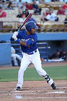 Desmond Jennings (8) of the Las Vegas 51s bats against the Sacramento River Cats at Cashman Field on June 15, 2017 in Las Vegas, Nevada. Las Vegas defeated Sacramento, 12-4. (Larry Goren/Four Seam Images)