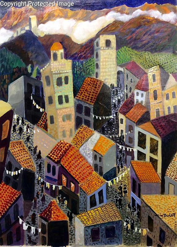 Navarra<br /> 27x20 Acrylic on Canvas Original Painting<br /> $12,000