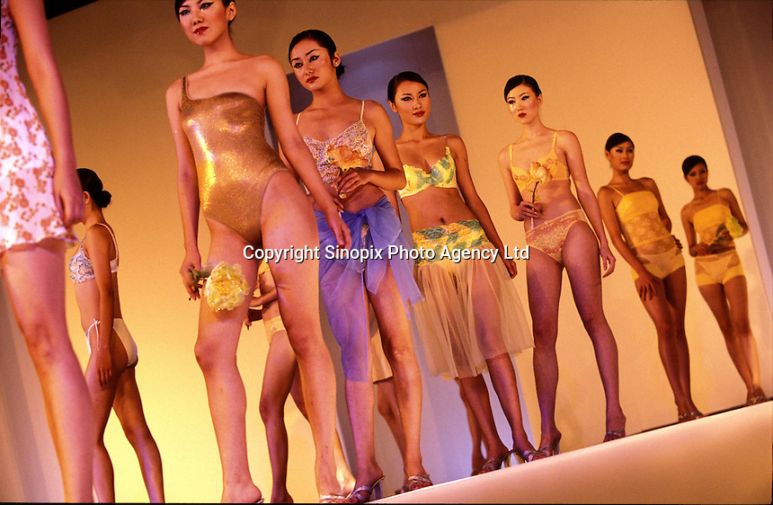 Models show the ltest designs at the  China International Underwear Exhibition Fair that is held in the China International Underwear City, Foshan city,  China. ..PHOTO BY SINOPIX.