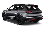 Car pictures of rear three quarter view of 2021 Volkswagen Touareg R 5 Door SUV Angular Rear