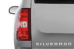 Tail light close up detail view of a 2009 Chevrolet Silverado Hybrid