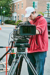 Director of Photography Dennis Donovan and the Red One digital cinema camera.