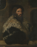 Full title: Portrait of a Man (Girolamo Fracastoro?)<br /> Artist: After Titian<br /> Date made: probably 16th century<br /> The National Gallery, London