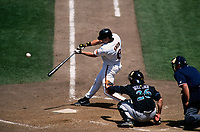 SAN FRANCISCO, CA:  J.T. Snow of the San Francisco Giants bats during a game at Candlestick Park in San Francisco, California in 1999. (Photo by Brad Mangin)