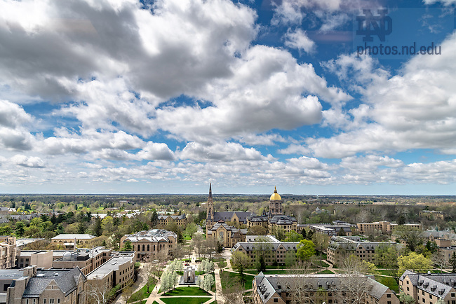 May 4, 2018; Campus skyline in spring 2018 (Photo by Matt Cashore/University of Notre Dame)