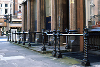 London: Street Railing, Mount St. at S. Audley.