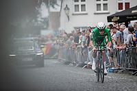 Ryan Mullen (IRL/Trek-Segafredo)<br /> <br /> 88th UCI Road World Championships 2021 – ITT (WC)<br /> Men's Elite Time trial from Knokke-Heist to Brugge (43.3km)<br /> <br /> ©Kramon