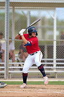 FCL Twins Kala'i Rosario (16) bats during a game against the FCL Boston Red Sox on July 3, 2021 at CenturyLink Sports Complex in Fort Myers, Florida.  (Mike Janes/Four Seam Images)