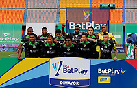 MEDELLIN - COLOMBIA, 02-05-2021: Jugadores de Equidad posan para una foto previo al partido por los cuartos de final vuelta de la Liga BetPlay DIMAYOR I 2021 entre Atlético Nacional y La Equidad jugado en el estadio Atanasio Girardot de la ciudad de Medellín. / Players of Equidad pose to a photo prior match for the quarterfinal second leg as part of BetPlay DIMAYOR League I 2021 between Atletico Nacional and La Equidad played at Atanasio Girardot stadium in Medellín city. Photo: VizzorImage / Donaldo Zuluaga / Cont