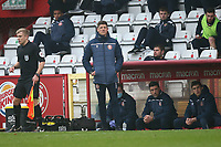 Stevenage manager Alex Revell during Stevenage vs Hull City, Emirates FA Cup Football at the Lamex Stadium on 29th November 2020