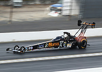Feb 9, 2020; Pomona, CA, USA; NHRA top fuel driver Austin Prock during the Winternationals at Auto Club Raceway at Pomona. Mandatory Credit: Mark J. Rebilas-USA TODAY Sports