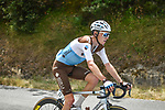 The peloton including Romain Bardet (FRA) AG2R La Mondiale during Stage 2 of the Route d'Occitanie 2020, running 174.5km from Carcassone to Cap Découverte, France. 2nd August 2020. <br /> Picture: Colin Flockton | Cyclefile<br /> <br /> All photos usage must carry mandatory copyright credit (© Cyclefile | Colin Flockton)