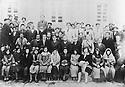 Iran 1939 .Employees of the Tobacco factory of Sakkez,men and woman, during the prohibition of the veil.<br /> Iran 1939.Salaries , hommes et femmes, de l'usine de tabac de Sakkez pendant la periode interdisant le port du voile