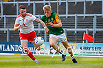 Killian Spillane, Kerry, in action against Ronan McNamee, Tyrone, during the Allianz Football League Division 1 Semi-Final, between Tyrone and Kerry at Fitzgerald Stadium, Killarney, on Saturday.