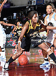 Alabama State Hornets guard Tamara Waldington (3) in action during the SWAC Tournament game between the Southern Lady Jaguars and the Alabama State Hornets at the Special Events Center in Garland, Texas. Southern defeats Alabama State 58 to 39.