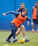 03.05.2019 Rangers training: Andy Halliday and Eros Grezda