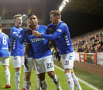 06.02.2019 Aberdeen v Rangers: Alfredo Morelos celebrates his goal