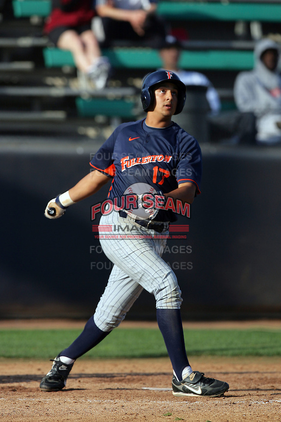 March 23, 2010: Carlos Lopez of Cal. St. Fullerton during game  against Loyola Marymount at LMU in Los Angeles,CA.  Photo by Larry Goren/Four Seam Images