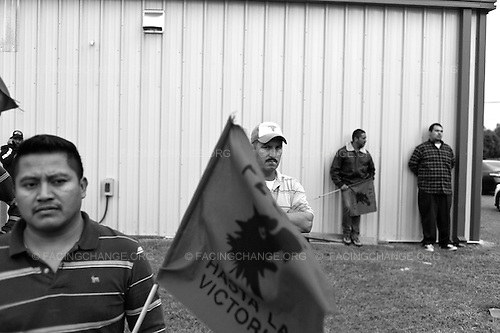 Dudley, North Carolina <br /> September 2011<br /> <br /> On September 18, FLOC members, community leaders, and activists came together for a rally to officially release a report and call on the tobacco industry to take action to end human rights abuses in their supply chain.