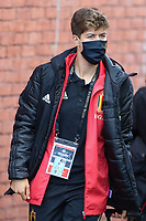 Isabelle Iliano (17) of Belgium pictured entering the stadium before   a friendly female soccer game between the national teams of Belgium , called the Red Flames and The Republic of Ireland , on sunday 11 th of April 2021  in Brussels , Belgium . PHOTO: SEVIL OKTEM | SPORTPIX.BE | SPP
