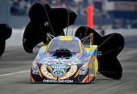 Nov. 12, 2011; Pomona, CA, USA; NHRA funny car driver Jim Head during qualifying at the Auto Club Finals at Auto Club Raceway at Pomona. Mandatory Credit: Mark J. Rebilas-.