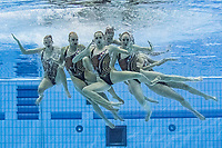 Team Belarus<br /> Artistic swimming team free <br /> Duna Arena, Budapest 14/05/2021 <br /> Budapest/Hungary<br /> Photo © A. Kovacs/Deepbluemedia/Insidefoto