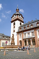 Weilburg: Baroque Church and Marktplatz. On the Lahn River.