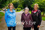 Enjoying a stroll in the Demesne in Killarney on Monday, l to r: Juliette Kelly, Peggy McNiece and Linda O'Donoghue.
