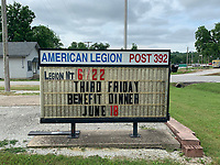 Alexus Underwood/Special to McDonald County Press The Pineville American Legion Post 392 is located at 103 Beeman Street in Pineville. The American Legion is now serving their monthly dinners inside, people are also able to purchase the monthly meals to-go.