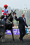 7 November 2009:  Owner Ken Ramsey lead his charge Furthest Land with Julian Leparoux up before entering the winners circle after taking the $1 Million Breeder's Cup Dirt Mile at Oak Tree at Santa Anita in Arcadia California.