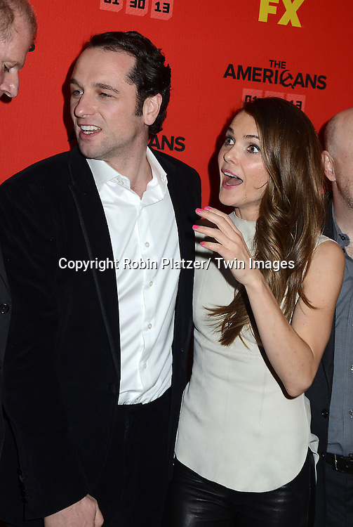 """Keri Russell and Matthew Rhys attend the premiere screening in New York City of """"The Americans"""" on January 26, 2013 at The DGA Theatre. The tv series will be on FX starting on January 30, 2013 and stars Keri Russell, Matthew Rhys, Noah Emmerich, Holly Taylor and Keidrick Sellati."""