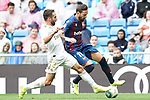 Real Madrid's Daniel Carvajal (l) and Levante UD's Jose Luis Morales during La Liga match. September 14,2019. (ALTERPHOTOS/Acero)