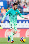 Lionel Andres Messi of FC Barcelona in action during their La Liga match between Atletico de Madrid and FC Barcelona at the Santiago Bernabeu Stadium on 26 February 2017 in Madrid, Spain. Photo by Diego Gonzalez Souto / Power Sport Images