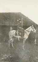 BNPS.co.uk (01202) 558833. <br /> Pic: Fellows/BNPS<br /> <br /> Pictured: Captain Walter Cornock on horseback. <br /> <br /> A stoic letter from a British World War One officer saying he would rather 'die a man's death than feel I had failed' has come to light 104 years on.<br /> <br /> Captain Walter Cornock, of the 12th Battalion, Gloucestershire Regiment, distinguished himself during the Third Battle of Ypres in 1917 and the 1918 German Spring Offensive.<br /> <br /> The correspondence to his father, also named Walter, reveals how he was driven by an enormous sense of duty and was prepared to sacrifice his life for his country.<br /> <br /> The 25 year old, from Gloucester, said this was preferable to taking 'cowardly advantage' of a situation and surviving, adding that people are 'unnecessarily afraid of death'.