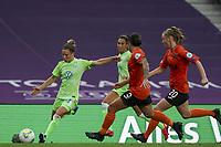 21st August 2020, San Sebastian, Spain;  Svenja Huth of VfL Wolfsburg crosses into the box during the UEFA Womens Champions League football match Quarter Final between Glasgow City and VfL Wolfsburg.