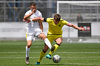 Kurtis Mogg of the Wellington Phoenix competes for the ball with Adam Thurston of Eastern Suburbs during the ISPS Handa Men's Premiership - Wellington Phoenix v Eastern Suburbs at Fraser Park, Wellington on Saturday 28 November 2020.<br /> Copyright photo: Masanori Udagawa /  www.photosport.nz
