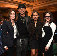 PASADENA, CA - JANUARY 17: (L-R) Executive Vice President, Global Scripted Content and Documentary Films at National Geographic Carolyn Bernstein, Genius: Aretha Director/Executive Producer Anthony Hemingway,  Executive Producer/Showrunner Suzan-Lori Parks, and President, National Geographic Global Television Networks Courteney Monroe attend the National Geographic 2020 TCA Winter Press Tour Party at the Langham Huntington on January 17, 2020 in Pasadena, California. (Photo by Frank Micelotta/National Geographic/PictureGroup)