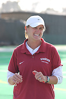 6 November 2007: Stanford Cardinal assistant coach Jordan Marotta during Stanford's 1-0 win against the Lock Haven Lady Eagles in an NCAA play-in game to advance to the NCAA tournament at the Varsity Field Hockey Turf in Stanford, CA.