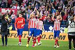 Atletico de Madrid's Gabi and Saul during La Liga Match at Vicente Calderon Stadium in Madrid. May 14, 2016. (ALTERPHOTOS/BorjaB.Hojas)