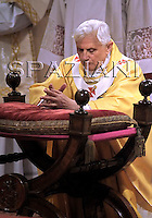 Benedict XVI washes feet  the mass on Good Friday at St Giovanni in Laterano Basilica ,April 9, 2009