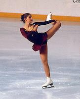 Claudia Kristofics-Binder of Austria competes at the 1981 Skate Canada in Ottawa, Canada.  Kristofics-Binder won the bronze medal. Photo copyright Scott Grant.
