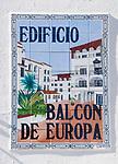 ESP, Spanien, Andalusien, Provinz Málaga, Costa del Sol,  Nerja: Strassenschild, Balcon de Europa | ESP, Spain, Andalusia, Costa del Sol, Nerja: street sign, Balcon de Europa