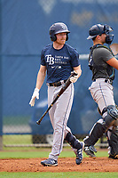 Tampa Bay Rays Michael Smith bats during an Extended Spring Training intrasquad game on June 15, 2021 at Charlotte Sports Park in Port Charlotte, Florida.  (Mike Janes/Four Seam Images)