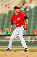 Kannapolis Intimidators starting pitcher Adam Lopez (30) in action against the Hickory Crawdads at CMC-Northeast Stadium on July 28, 2013 in Kannapolis, North Carolina.  The Crawdads defeated the Intimidators 6-1.  (Brian Westerholt/Four Seam Images)