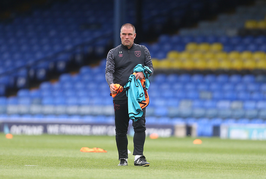West Ham United's U21 assistant coach Steve Potts<br /> <br /> Photographer Rob Newell/CameraSport<br /> <br /> EFL Trophy Southern Section Group A - Southend United v West Ham United U21 - Tuesday 8th September 2020 - Roots Hall - Southend-on-Sea<br />  <br /> World Copyright © 2020 CameraSport. All rights reserved. 43 Linden Ave. Countesthorpe. Leicester. England. LE8 5PG - Tel: +44 (0) 116 277 4147 - admin@camerasport.com - www.camerasport.com