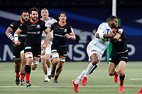 26th September 2020, Paris La Défense Arena, Paris, France; Champions Cup rugby semi-final, Racing 92 versus Saracens; Vakatawa (Racing 92) is held up on a run