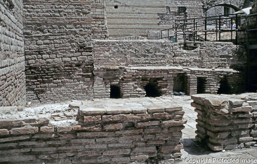 Tepidarium at the Baths of Constantine. Roman Baths in Arles, France.