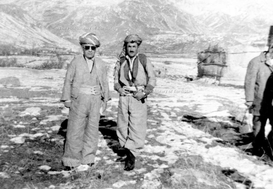 Iraq 1972 .In Kasre, left, Assad Agha and right, Akram Agha.Irak 1972 .A Kasre, a gauche, Assad Agha et a droite, Akram Agha