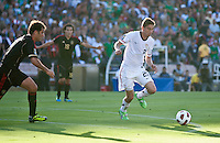 PASADENA, CA – June 25, 2011: USA player Alejandro Bedoya (22) during the Gold Cup Final match between USA and Mexico at the Rose Bowl in Pasadena, California. Final score USA 2 and Mexico 4.